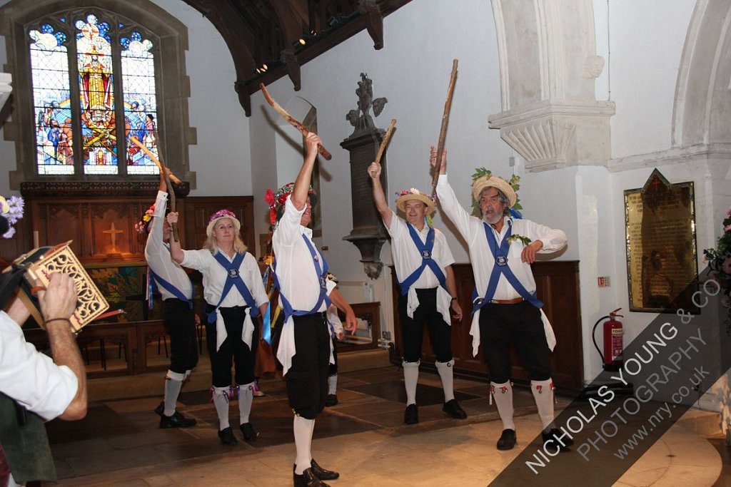 Chobham Morris Dancers at St Lawrence Church