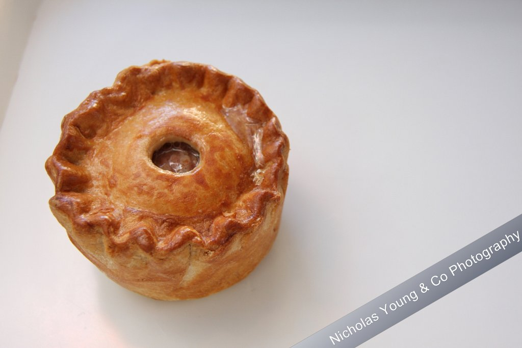 Food photography - pork pie