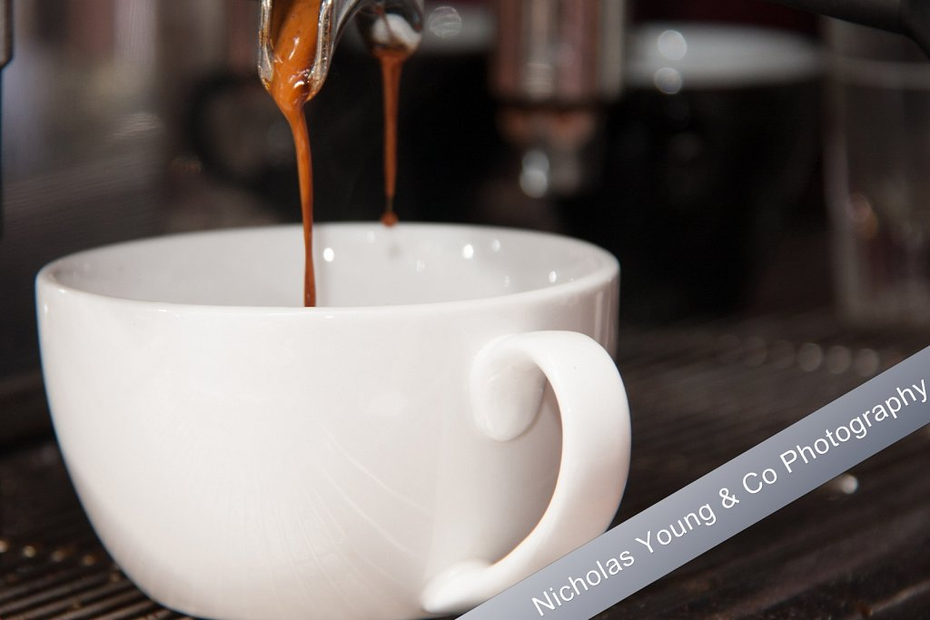 Food and drink photography - Coffee being made