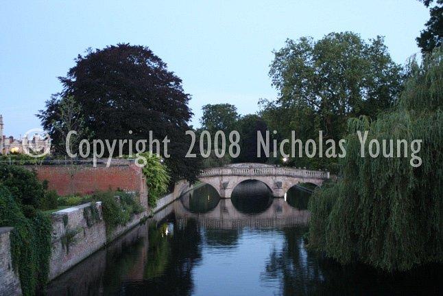 Claire College bridge in Cambridge