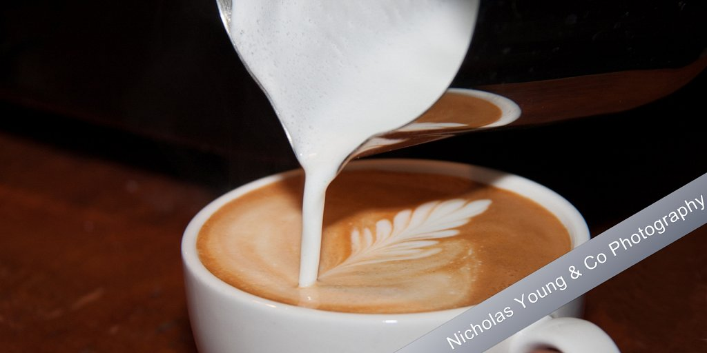 Food and drink photography - Latte art