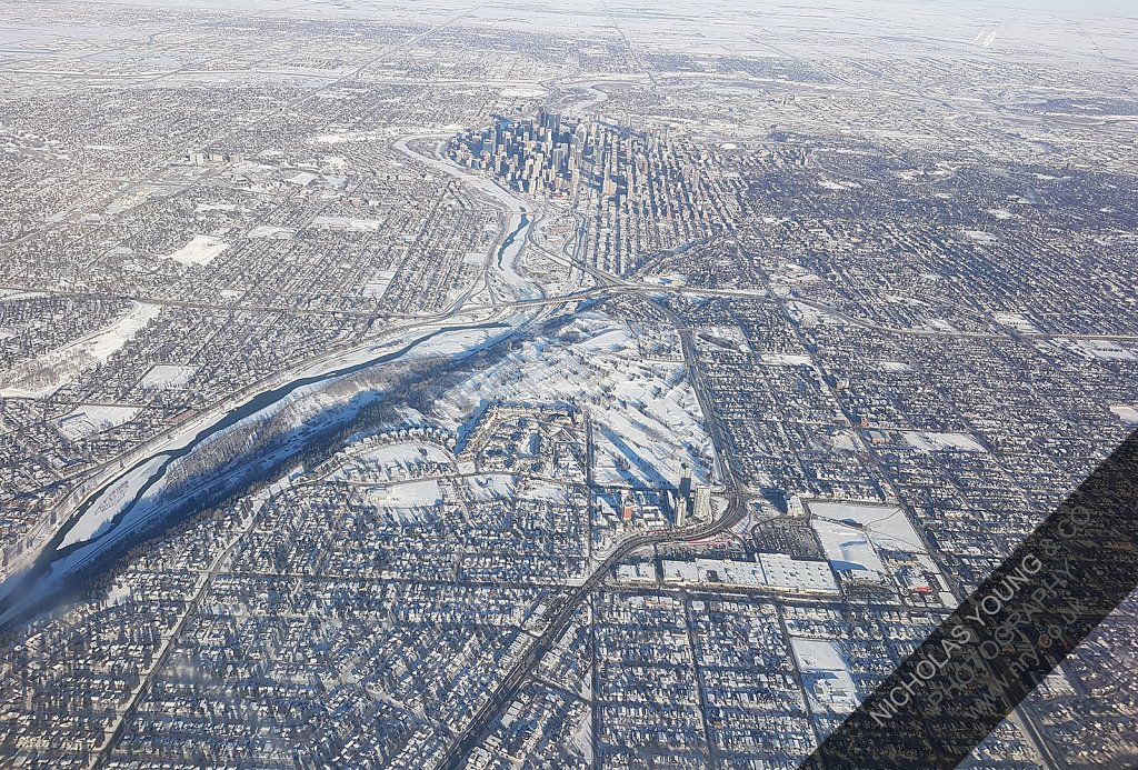 Snow, aerial view.